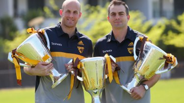 David Hale and Brian Lake head into the sunset with three Hawthorn premierships.
