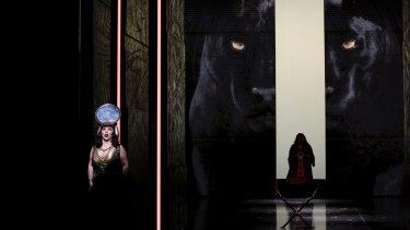 Elena Gabouri in a dress rehearsal for Opera Australia's new digital production of Aida.