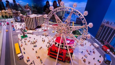 A model of the Melbourne Star Observation Wheel.
