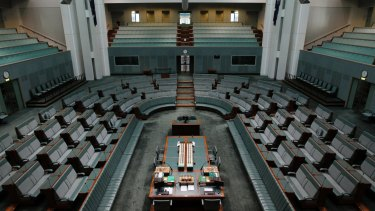 The House of Representatives will be empty next week, after the decision by the Coalition's leadership group.