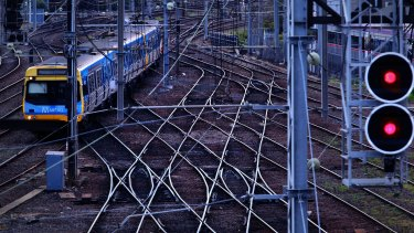 The fire has forced trains to skip Southern Cross.
