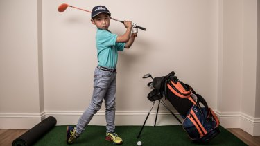 Leon spends four hours at golf camp on a typical summer day.