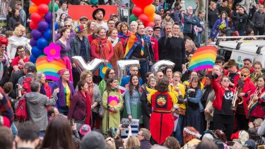 More than 20,000 people took to the streets in Melbourne for the Equal Love rally last month.