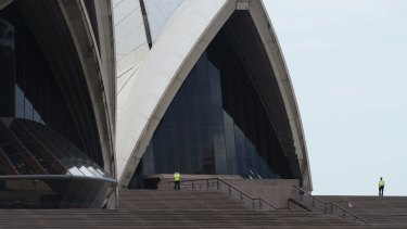 The Sydney Opera House went into lockdown on Thursday afternoon.