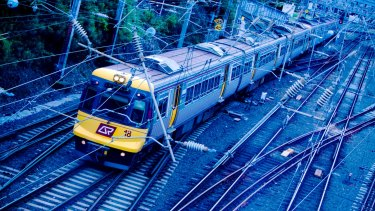 Passengers were stranded on a train for almost three hours on Friday night after it became stuck on the Ferny Grove line.