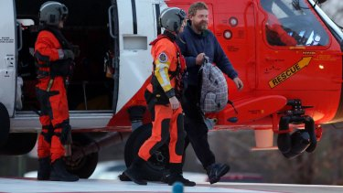 No sign of sea legs: Louis Jordan is hospitalised after 66 days at sea.