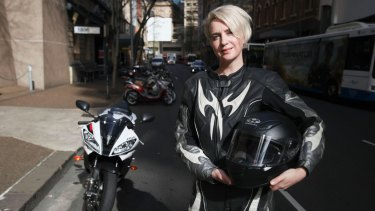 Kate Rothwell saves money and time riding her bike to work.