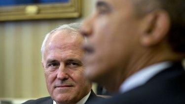 Malcolm Turnbull with US President Barack Obama.