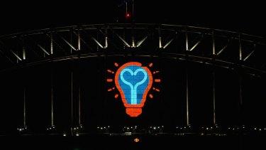 Sydney's New Year's Eve lightbulb moment.
