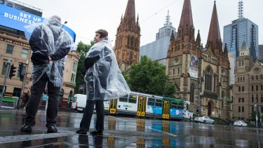 The wet weather is easing after three days of rain.