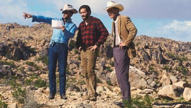 Writer/Director Tom Ford (left) with Jake Gyllenhaal (centre) and Michael Shannon.