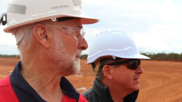 Sirius Resources chief operating officer Rob Dennis, left, and managing director Mark Bennett at the Nova nickel mine.