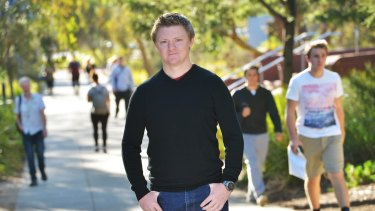 Teacher Lachlan Clohesy is employed by Victoria University from semester to semester.