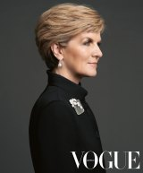 Julie Bishop as she will appear in the August issue of <i>Vogue</i>.