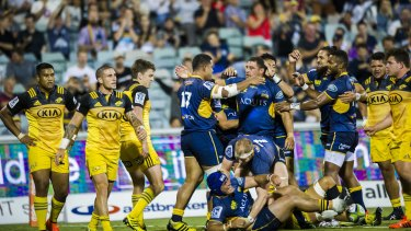 The Brumbies hope they can lure a big crowd to Canberra Stadium for a derby against the Waratahs.