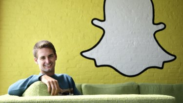 Snapchat CEO Evan Spiegel. The video-sharing platform is hugely popular with 18-24 year olds.