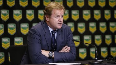 Polarising figure: NRL CEO Dave Smith has been attacked by News Corp media outlets, but he is not without his backers elsewhere.