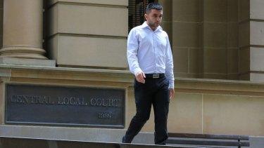 Mehmet Ozgen outside Central Local Court.