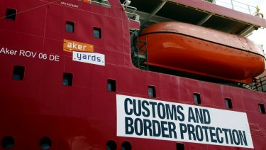 An employee on a Customs and Border Protection boat pointed a work-issued knife in a joking manner.