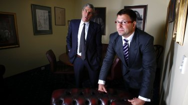 Alf Moufarrige (left) runs Servcorp with his son and COO, Marcus Moufarrige.