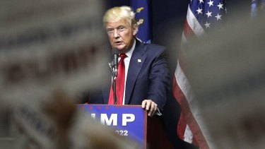 Republican presidential candidate Donald Trump at a campaign rally in Bethpage, New York, on Tuesday.