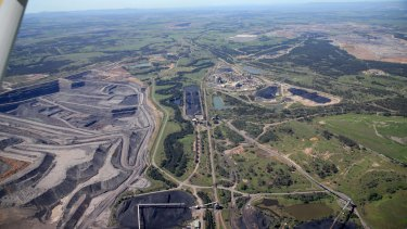 Coal mines in the Hunter Valley near Singleton.
