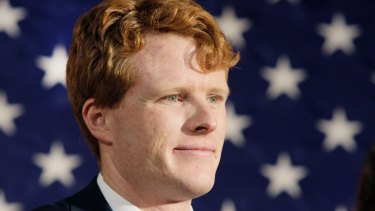 Joseph Kennedy III attends a campaign event for the senate candidacy of Martha Coakley in 2012.
