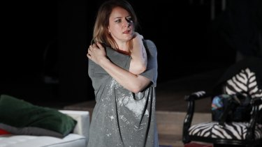 Susan Prior in the MTC production of The Distance.