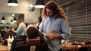 Services such as wet shaves are back in vogue.