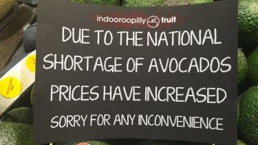 Brisbane shop posts sign to warn consumers.