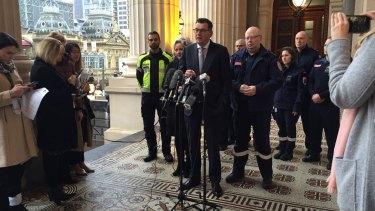 Premier Daniel Andrews announces new body cameras for paramedics on Wednesday, June 21.