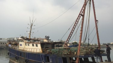 A Chinese fishing vessel rescued in March by the Chinese Coast Guard after its seizure by Indonesian authorities near the Natuna Islands.