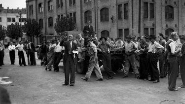 An Australian Communist Party meeting in Sydney on 25 March 1949.