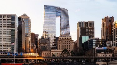 The arched tower proposed for Collins Street, also known as the ''Pantscraper'', has received a mixed response.