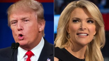 Republican presidential candidate Donald Trump and Fox News Channel host and moderator Megyn Kelly clashed during the first Republican debate in August.