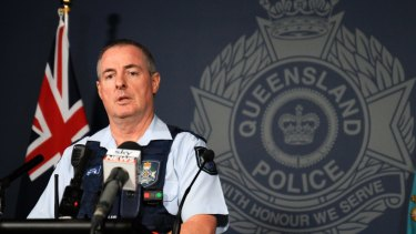 Brisbane regional duty officer Inspector Sean Cryer speaks to the media about the search and rescue operation for the missing backpacker.