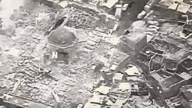 On the cusp of losing control of Mosul and with it its claim to a caliphate, the US claimed IS destroyed the al-Nuri Mosque last week.