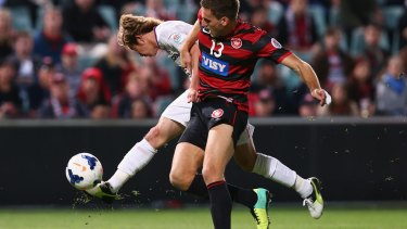Growing in stature: Matthew Spiranovic of the Wanderers.