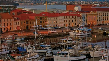 Hobart waterfront, Tasmania: the past is not so long ago.