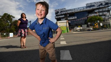Christian Martin is excited about starting prep at the new South Melbourne Primary School next year.