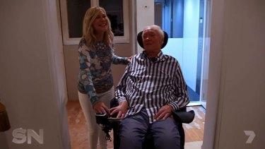 Kerri Anne and husband John at home.