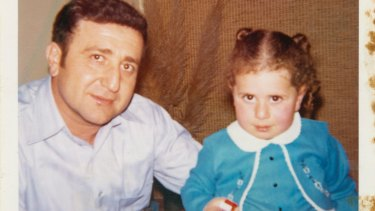 Gladys Berejiklian as a toddler with her father, Krikor.