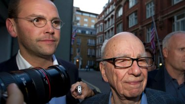 James and Rupert Murdoch: The charges against Tom Crone came in the wake of the News International phone hacking scandal that led to the closure of <i>News of the World</i>.