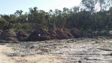 Mulch piles.