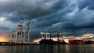 The volume of exports was up 2 per cent in the June quarter.