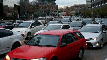 Traffic on Kings Way this week.