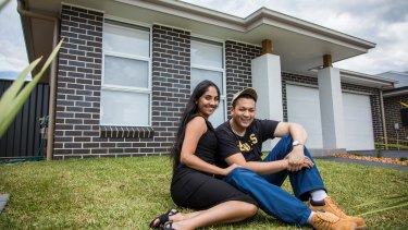 Kirti Mahraj, 23 and Adil Mohiuddin, 25 bought a house in Sydney without family money.