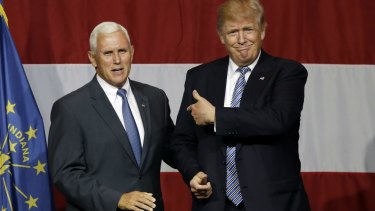 """Mr Pence touts himself as a """"a Christian, a conservative and a Republican, in that order""""."""