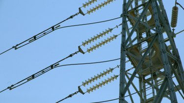 An electrical power line.