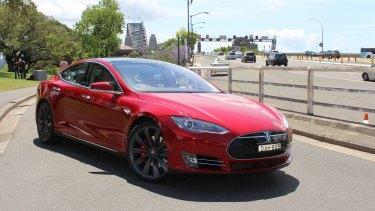The groundbreaking Tesla Model S.